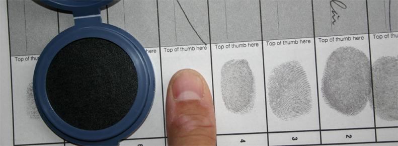 fingerprints in a journal