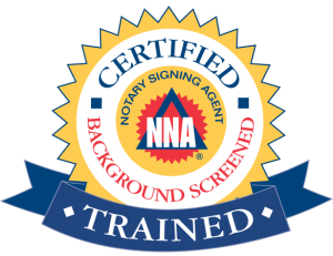 NNA Certified and trained notary